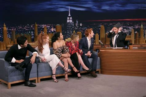 madelaine petsch on jimmy fallon camila mendes lili reinhart and madelaine petsch at the