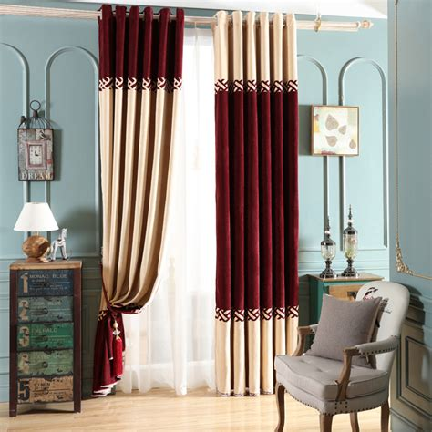 red and white curtains for bedroom simple chenille red white beige and wine jacquard chenille thermal elegant color