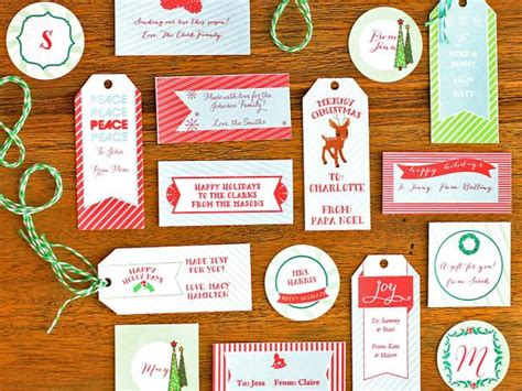 how to make customizable holiday gift tags diy