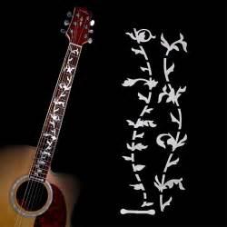 Murah Stiker Fret Gitar Mixed Pattern Guitar Fretboard Sticker electric acoustic guitar tree of stickers bass inlay decal ultra thin fretboard sticker for