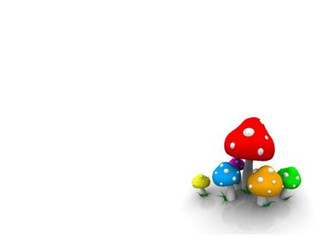 Free 3d Animation 3d 3d Mushroom Free Ppt Backgrounds Animations For Powerpoint