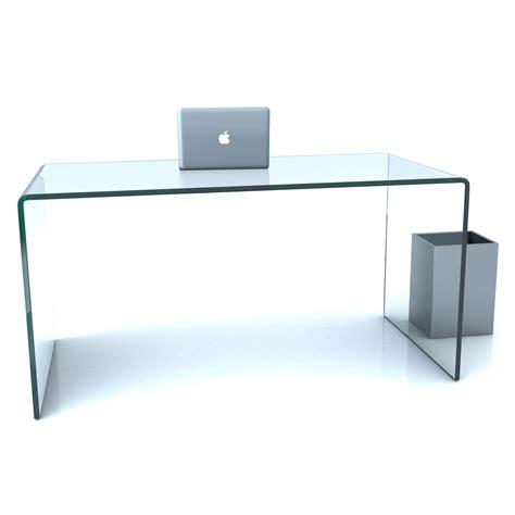 glas schreibtisch design design glas schreibtisch 19mm echtglas b t h 140x32x73cm
