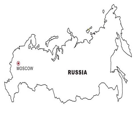 coloring page map of russia russia map coloring color area