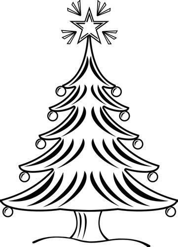 weihnachtsbaum schwarz wei 223 public domain vektoren
