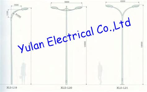 light pole dimensions high quality octagonal conical light poles