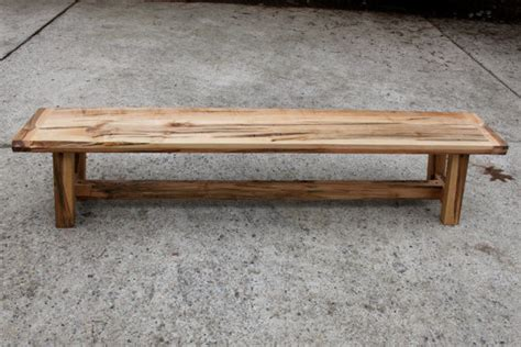 outside wooden benches farmhouse style wooden bench ambrosia maple by the second