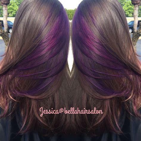peekaboo color 25 best ideas about purple peekaboo hair on