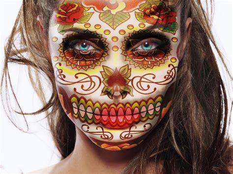 imagenes de calaveras rojas ideas para maquillarse como la catrina o calavera mexicana
