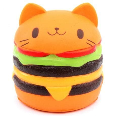 Squishy Burger jumbo rise cat burger squishy squishyshop ca