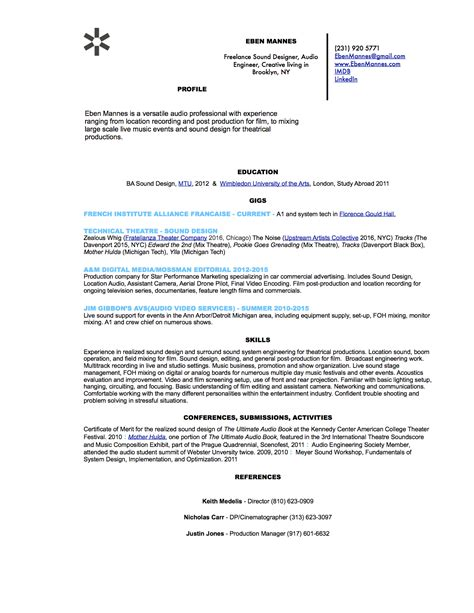 Sound Editor Cover Letter by Sound Engineer Sle Resume Reference Letter From