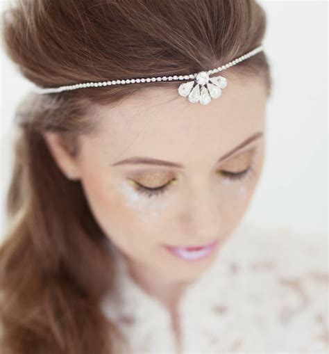 Wedding Hair Accessories Ayrshire by Clemise Bridal Browband By Corrine Smith Design