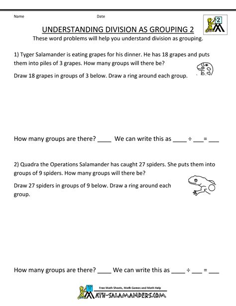 division worksheets for 3rd grade second grade division worksheets