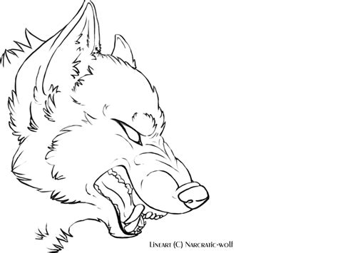 free doodle viewer wolf snarling side view drawing