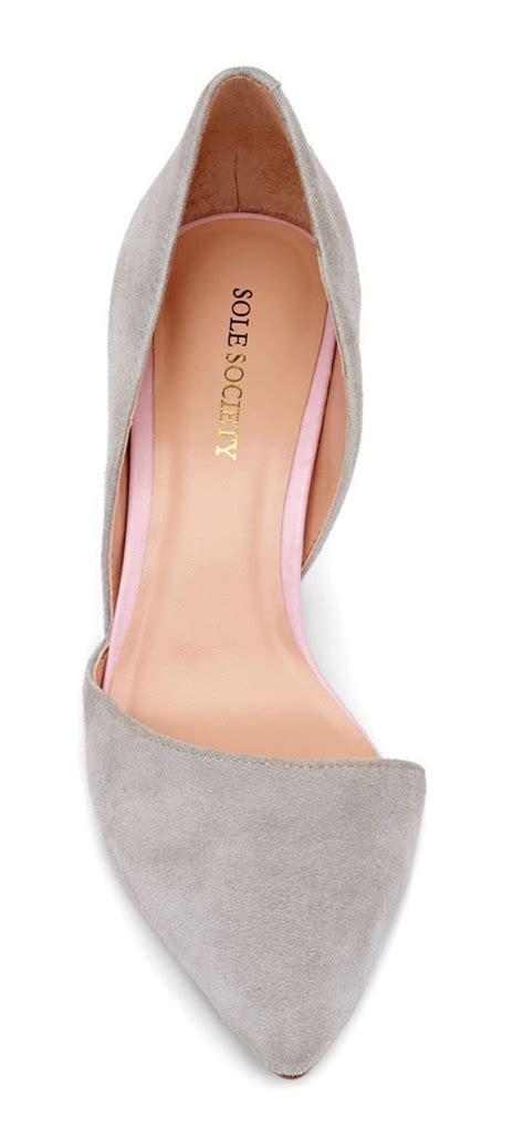 Velvet Kitten Dorsay Heels Pointy Toe Gray D Orsay Shoes Womens Fashions