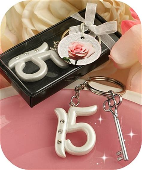 Diy Caign Giveaways - quinceanera key chain party favors