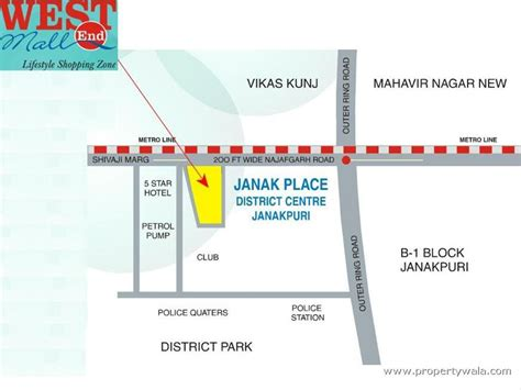 Commercial Complex Floor Plan Westend Mall Janakpuri New Delhi Office Space Project