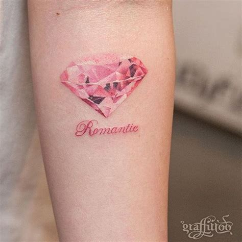pretty pink diamond tattoo venice tattoo art designs