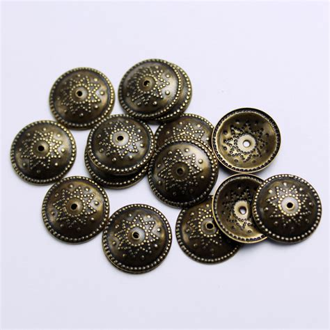 etsy jewelry supplies 12mm bead caps antique brass 20 jewelry supplies end