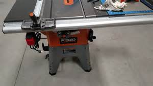 Bench Saw Reviews Ridgid R4512 Table Saw Assembly Tips Workshop Addict