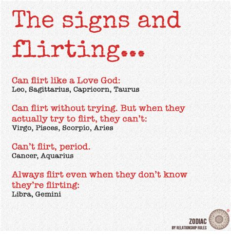 god love and period the signs and flirting can flirt