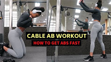intense cable  ab workout  abs fast youtube