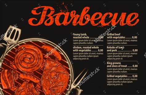 7 Bbq Restaurant Menu Templates Designs Templates Free Premium Templates Barbecue Menu Template