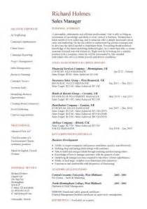Resume Sample Achievements by Sales Manager Cv Example Free Cv Template Sales