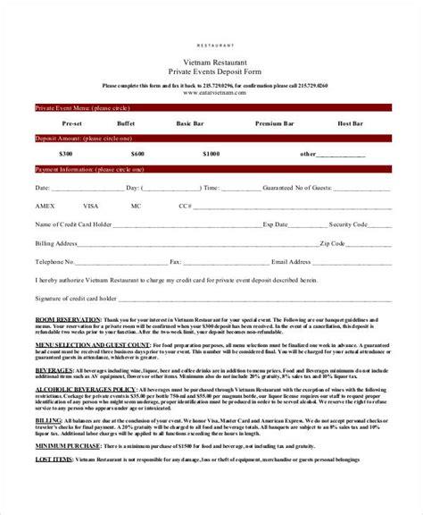 reservation form template 31 reservation form templates