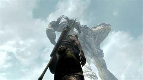 New Skyrim Mod Adds Giant Colossi Like Monsters Giant Sea Monster Skyrim