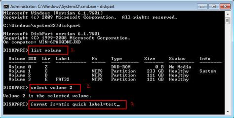 format fat32 in cmd on windows 7 how to format disk partition with diskpart command line