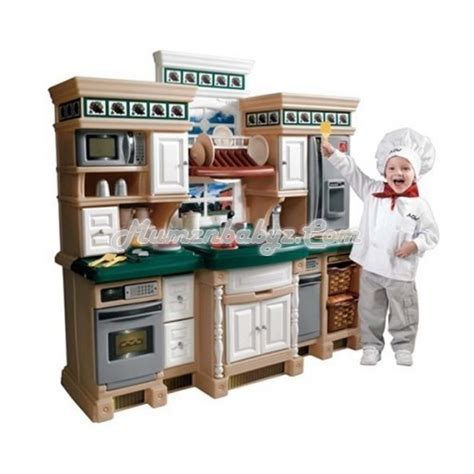 Step2 Lifestyle Kitchen With Green Countertop by Step2 Lifestyle Deluxe Kitchen This Play