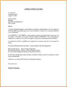 application letter sles for studentsreference letters