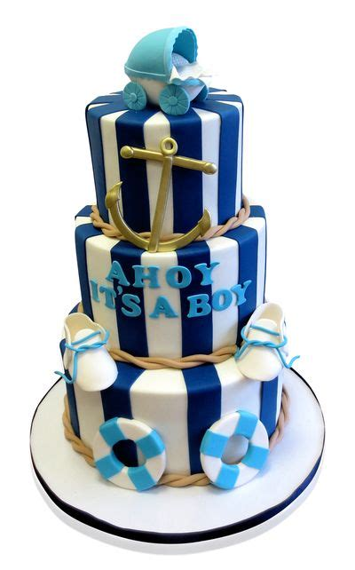 Baby Shower Cakes Nautical Theme by Best 25 Navy Baby Showers Ideas On Baby