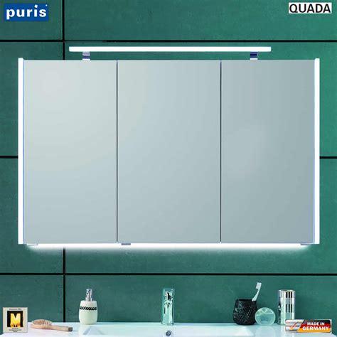 spiegelschrank puris puris quada spiegelschrank 120 cm mit seitlichen led