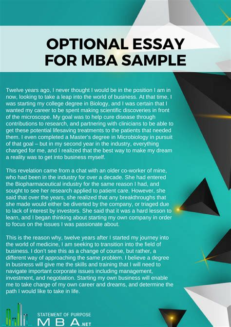 Does It Matter What You Apply For Mba by Writing The Optional Essay Perfectly Statement Of
