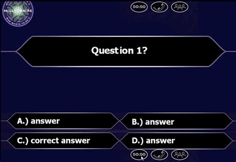 who wants to be a millionaire quiz template powerpoint