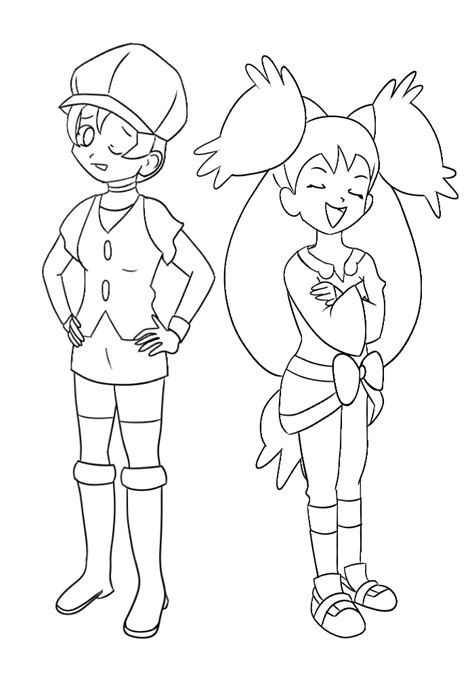 pokemon iris coloring pages pokemon ash and iris coloring home