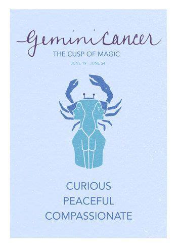 gemini cancer cusp poster astrological cuspian print