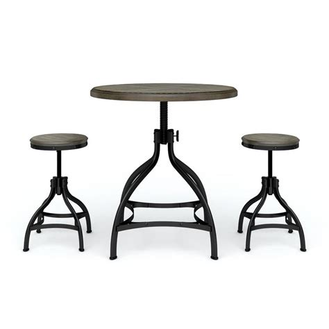 Whalen Brown Adjustable Stool by Shop Whalen Brown Dining Set With Dining Table At