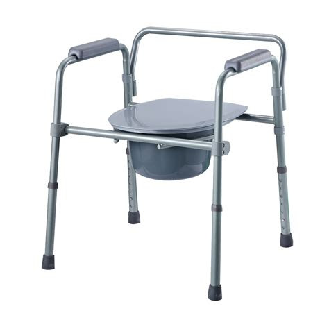 bedroom commode chair toilet chair economy commode chair 3 in 1 steel lid for