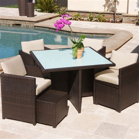 beaumont patio furniture christopher knight home beaumont 9 piece outdoor seating