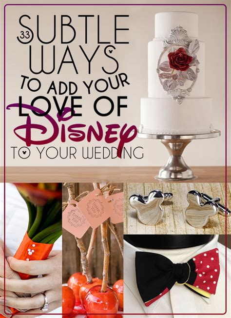 subtle disney wedding ideas 33 subtle ways to add your of disney to your wedding