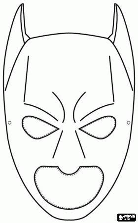 batman mask coloring pages printable batman mask coloring page jacob pinterest batman
