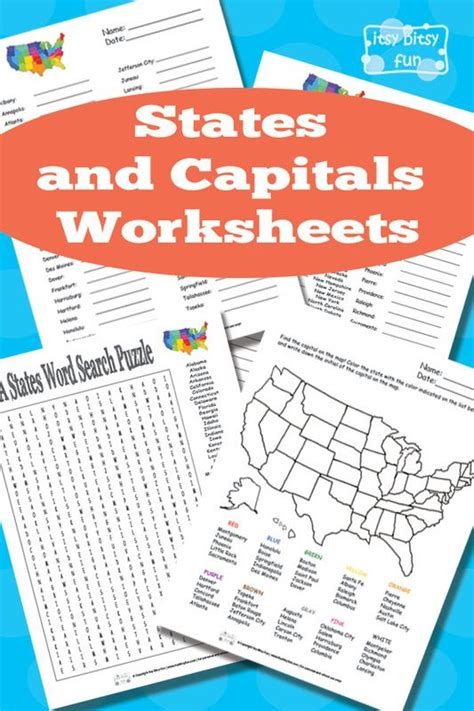 States And Capitals Worksheets by States And Capitals Worksheets States And Capitals Us