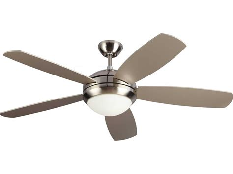 monte carlo discus ceiling fan monte carlo fans discus es brushed steel 52 wide indoor