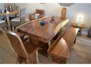 Dining Room Table And Bench home suar wood furniture slab dining table recycle boat