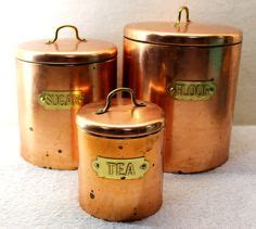 copper canisters kettle pots nesting vintage country kitchen hammered copper stock pot with lid antique primitive