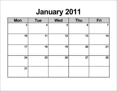 printable weekly calendar monday through friday 2015 calendar template for mon thru fri calendar template 2016