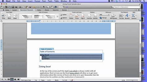create table of contents in word create a table of contents in word 2011 for mac