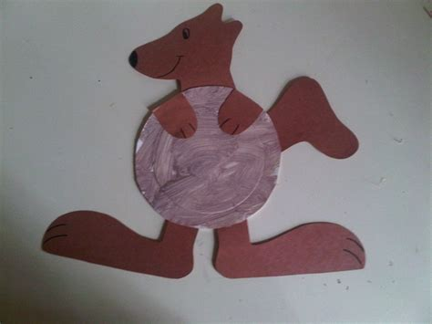 Kangaroo Paper Craft - ellie s project paper plate kangaroo my